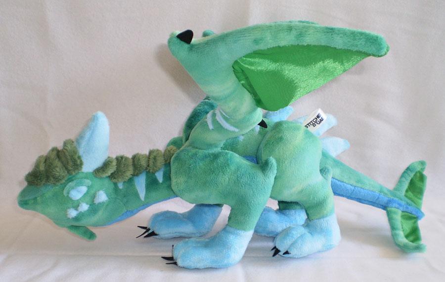 peluche-wow-drake-néant-vert