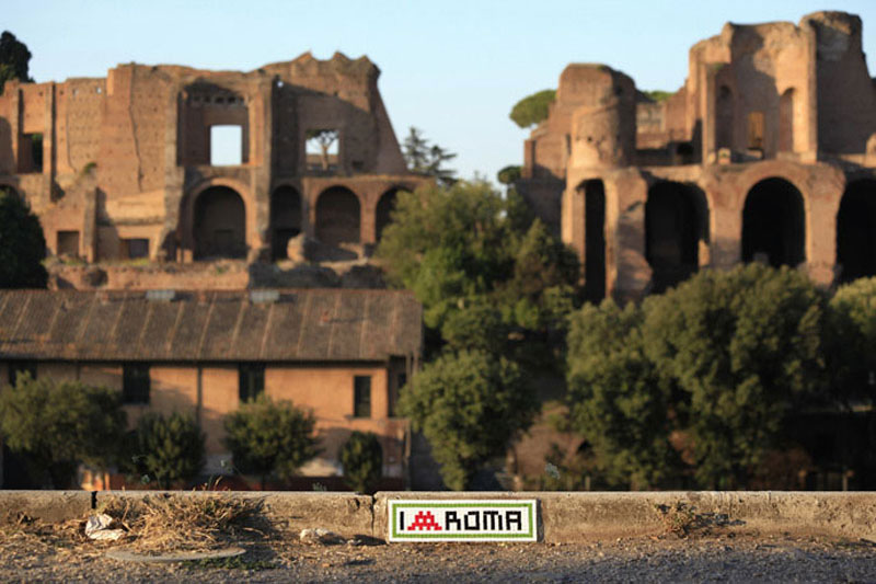 rome-space-invaders