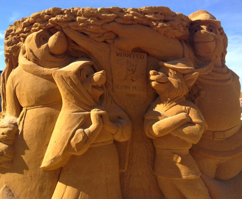 sculpture-sable-robin-des-bois