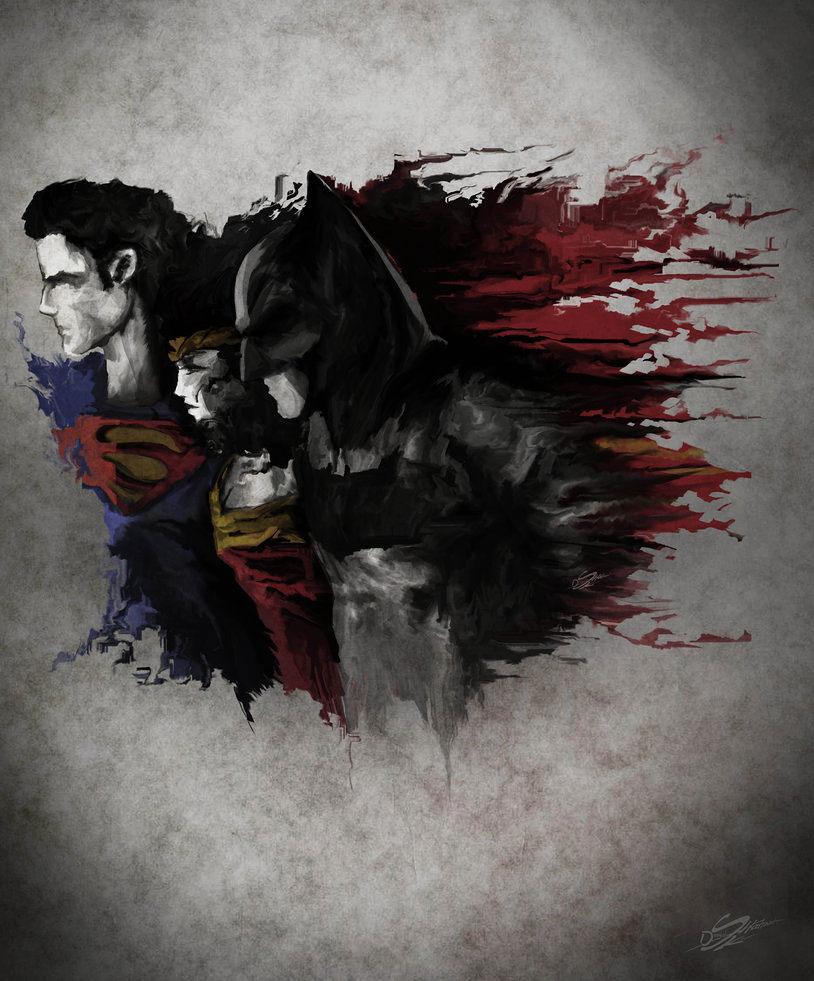 batman-superman-peinture