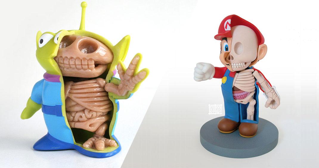 Tudiez l anatomie de vos jouets pr f r s avec ces figurines tonnantes daily geek show - Bisounours tout curieux ...