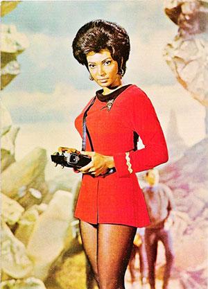 Lieutenant Uhura chargée des communication sur l'Enterprise