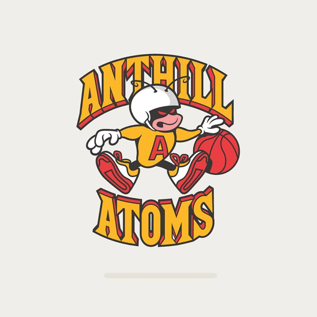 Anthill Atoms based on the old logo of #hornets #charlottehornets