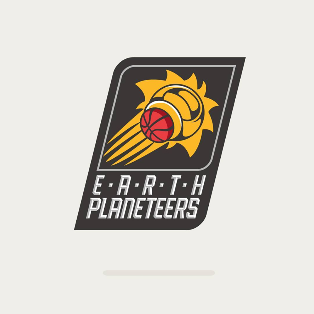 Earth Planeteers from Captain Planet based on #phoenixsuns
