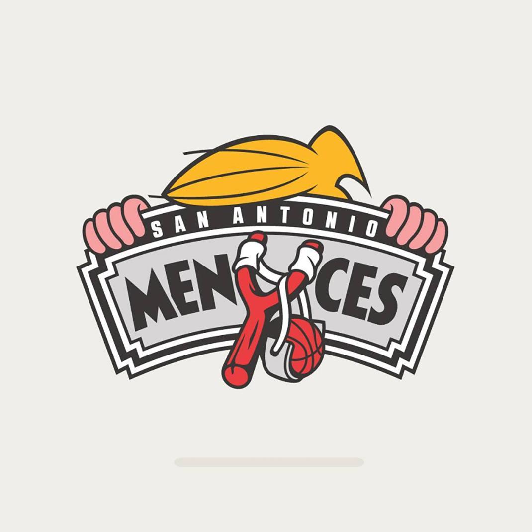 San Antonio Menaces based on #sanantoniospurs
