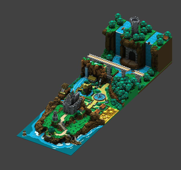 voxel-art-ville-cascade-carma